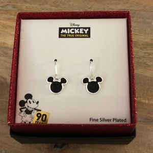 Mickey Mouse Silver Plated Earrings
